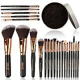Rocaran Premium Makeup Brush 22pcs, foundation mixed concealer, blush, eye shadow, eyes and facial makeup brush set,With 1 cleaning box