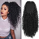 COSYMAY Jerry Curly Ponytail 24'' Synthetic Long Ponytail for Women Wrap Around Drawstring Ponytail Kinky Curly High Ponytail