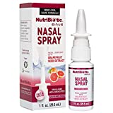 NutriBiotic Nasal Spray | 1 FL OZ Nasal Lubricant with Grapefruit Seed Extract and Sodium Chloride | Helps Flush Irritants from Nasal Passages | Drug-free | Non-Medicated | Convenient, Measured Dose Pump
