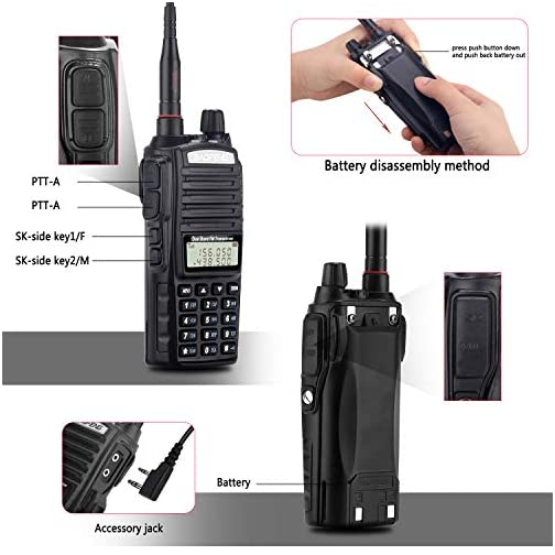 BaoFeng Radio UV-82+ 8W Handheld Dual Band VHF/UHF Two Way Ham Radio Rechargeable Long Range Walkie Talkies for Adults… 5