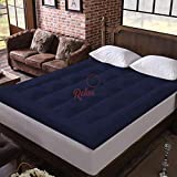 Relaxfeel 600 GSM Microfiber 5 Star Cotton Double Bed Soft Waterproof Quilted Mattress Topper /...