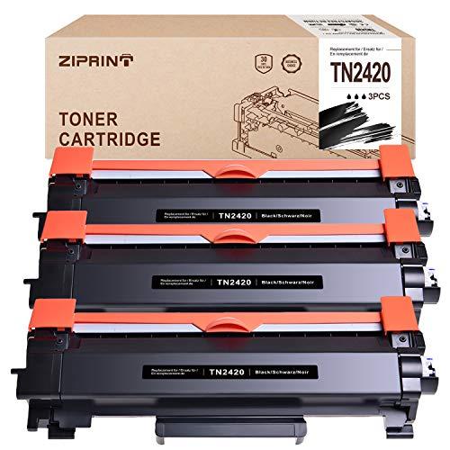 ZIPRINT 3 Kompatibel für TN-2420 TN2420 Toner für Brother HL-L2310D HL-L2350DN HL-L2370DN HL-L2375DW DCP-L2530DW DCP-L2510D MFC-L2710DN MFC-L2710DW MFC-L2730DW MFC-L2750DW Drucker