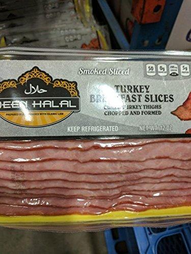 Deen Halal Turkey Bacon 12 Oz 6 Pack