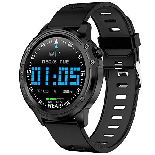WAZA Smartwatch Reloj Inteligente Digital Deportivo Impermeable con Podómetro Multi-Touch Pulsómetro en Tiempo Real Pulsera Actividad para Fitness para Hombre Mujer Niños (Negro)