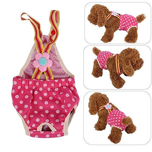 Hundewindeln Weibliche Hund Physiologische Unterwäche 6 Größen Waschbar Schutzhose Hygieneunterhose Sanitär Windel Rose Rot Hund Windeln(M)