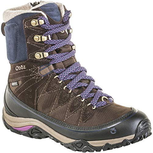 "Oboz Juniper 8"" Insulated B-Dry Hiking Boot - Women's Cocoa/Cobalt 8"