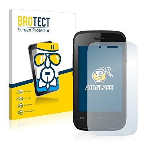 BROTECT Panzerglas Schutzfolie kompatibel mit Wiko Ozzy Crazy Phone - AirGlass, 9H Festigkeit, Anti-Fingerprint, HD-Clear