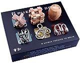Perfecbuty 6PCS 3D Alambre de Metal Cubo Puzzles de Madera Toys Clásico Educativo Jigsaw IQ Rompecabezas Interbloqueado Juguetes,para Niños y Adultos Ejercicio Capacidad,Cumpleaños,Navidad,Regalo