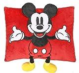 Mickey Mouse Cojin con Aplicaciones Referencia CD Textiles del hogar Unisex Adulto, Rojo, 1 Unidad (Paquete de 1)