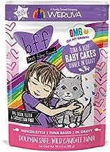 B.F.Omg - Best Feline Friend Oh My Gravy!, Tuna & Beef Baby Cakes with Tuna & Beef In Gravy Cat Food by Weruva, 3oz Pouch (Pack of 12), Purple (0152)