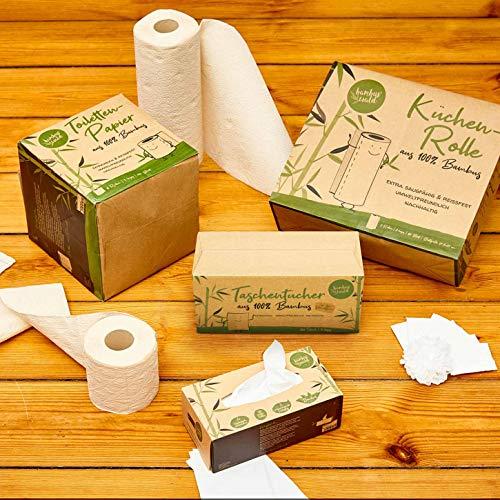 bambuswald© nachhaltiges Toilettenpapier aus 100% Bambus | 8x Rollen á 200 Blatt - 3 lagig sanft trocken & angenehm weich | holzfreies Klopapier in plastikfreier Verpackung | WC-Papier Toilet Paper - 5