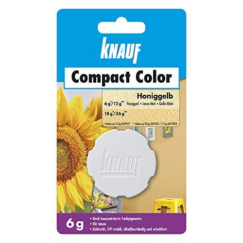 Knauf Compact Colors Farb-Pigmente – Pigment-Pulver zum Einfärben von Putz, nicht staubend, hoch konzentriert und wischfest, Honiggelb, 6-g