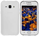 mumbi Hülle kompatibel mit Samsung Galaxy J1 Handy Hülle Handyhülle, transparent weiss