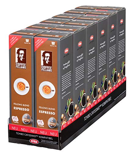 Coffee Fellows BLEND ESPRESSO Kaffeekapseln, 120 Stück, kompatibel mit Tchibo Cafissimo(R)*, 12er Pack (12 x 78 g)