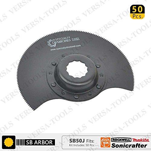 Why Choose Versa Tool SB50J 80mm HSS Semi-Circular Multi-Tool Saw Blades 50/Pack, 9mm Offset Mount F...