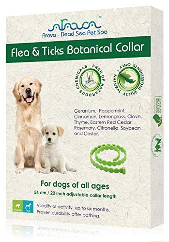 Arava Flea & Tick Prevention Collar - for Dogs & Puppies - Length-22'' - 11...