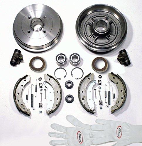 Autoparts-Online Set 60003728 Bremstrommeln/Bremsen Kit mit ABS-Ringen + Radlager hinten