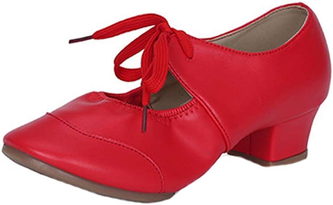 Inlefen Women's Latin Dance Shoes PU Soft Breathable Women Dance Shoes