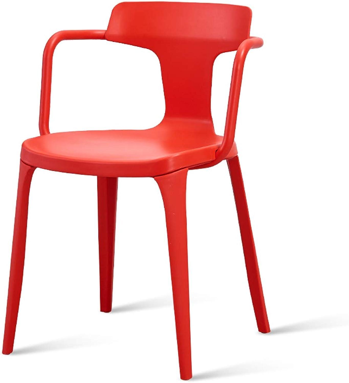LRW Nordic Leisure Chair Restaurant, Modern Chair, Fashion Office Desk, Chair, Backrest Stool, Red