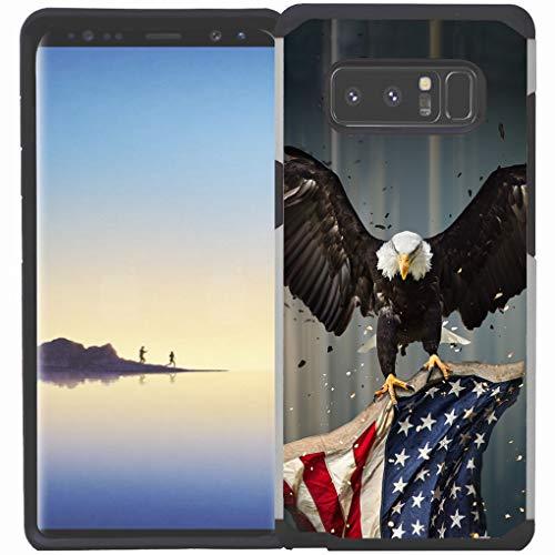 Galaxy S10 Plus / S10+ Hülle, doppellagig, stoßfest, American Bald Eagle Fliegen mit Fahne