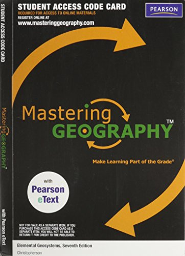 Mastering Geography with Pearson eText -- Valuepack Access Card -- for Elemental Geosystems (ME component)