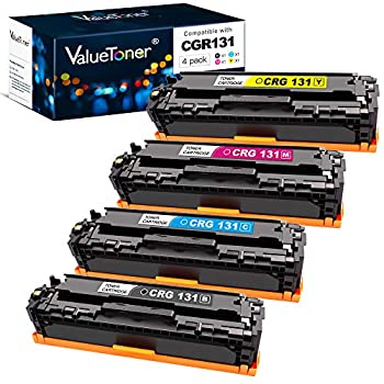 Valuetoner Compatible Toner Cartridge Replacement for Canon 131 131H for ImageClass MF8280Cw MF628Cw MF624Cw MF8230Cn LBP7110Cw Printer  Black,Cyan,Magenta,Yellow,4 Pack