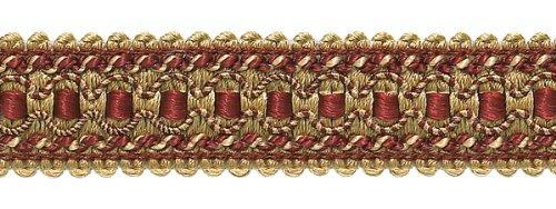 24.7 Meter Package|Decorative|Burgundy, Red, Gold|32mm|Style#: 0125IG|Color: 1253 (Crimson Gold)