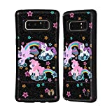 Official My Little Pony Glow Rainbow Vibes Hybrid Case Compatible for Samsung Galaxy Note8 / Note 8