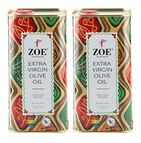 ZOE Extra Virgin Tin 33.8 Pack , Olive Oil, 67.62 Fl Oz, (Pack of 2)