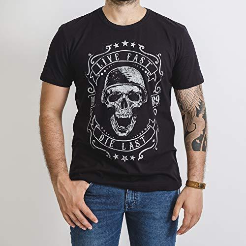 Camiseta Masculina Fallon Live Fast Preta (G)