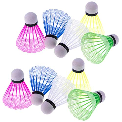 SIDCO Federbälle 10 x Badmintonball Federball bunt Badmintonbälle Badminton farbig