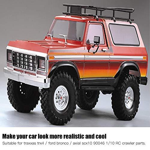 Dilwe RC Car Shell Kit, 1/10 RC-Karosserie-Schutzabdeckung aus Kunststoff Kompatibel mit dem Traxxas TRX4-Modellauto