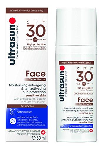 Ultrasun Tan Activator Face SPF30 Anti-Aging Sonnenschutz Gel, 1er Pack (1 x 50 ml)
