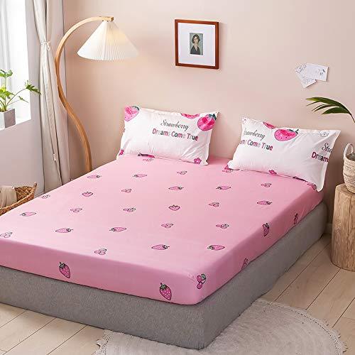 haiba Sábana bajera ajustable para cama individual, 100% algodón puro con diseño extra profundo, sábanas bajeras bajeras individuales, 150 x 200 cm + 23 cm