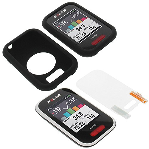 Funda + película para Polar V650 protectora silicona carcasa protección negra
