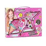 Ishine Kit de maquillaje para niños, juguetes de princesa, juego de simulación, set de regalo de maquillaje lavable, regalo de cumpleaños juguetes para 3 4 5 6 7 8 9 10 años de edad