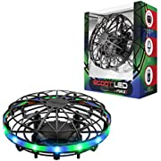Force1 Scoot LED Hand Operated Drones for Kids or Adults - Hands Free Motion Sensor Mini Drone, Easy Indoor Small UFO Toy Flying Ball Drone Toys for Boys and Girls (Green/Blue)