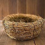 LINGZIA Recién Nacido Fotografía Prop Creative100 Days BabyPhotographyBaby Basket DarkKhaki