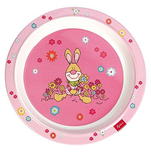 Sigikid Bungee Bunny Teller aus Melamin (21,5x 21,5x 2,5cm)