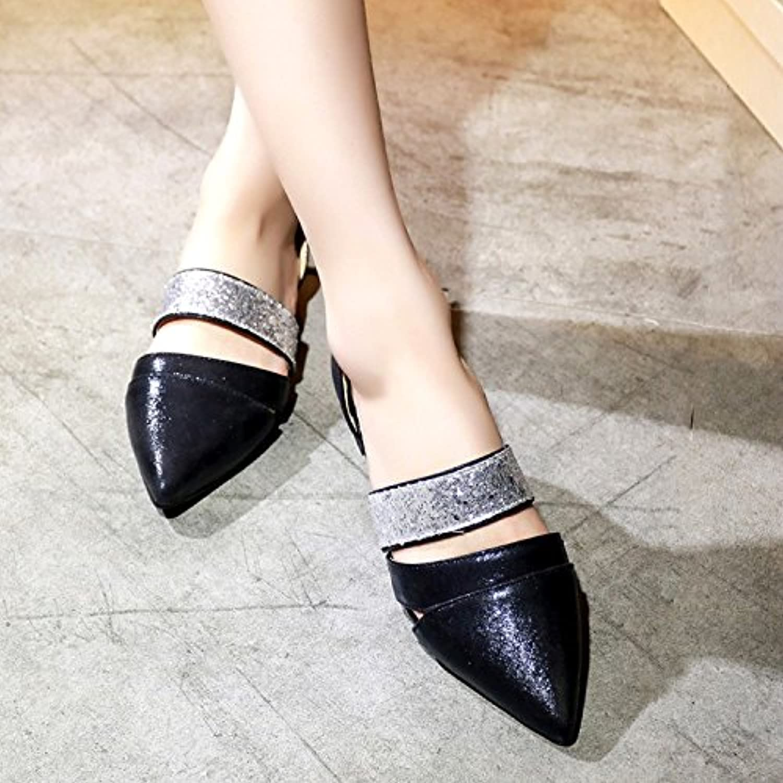 WHW Women's shoes fine Heel Peep Toe Sandals Wedding Party Evening Dress Sandals,33,Silver