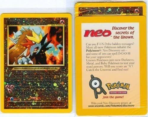 Pokemon Card - Black Star Promo #34 - ENTEI (holo-foil) - Factory Sealed by Nintendo