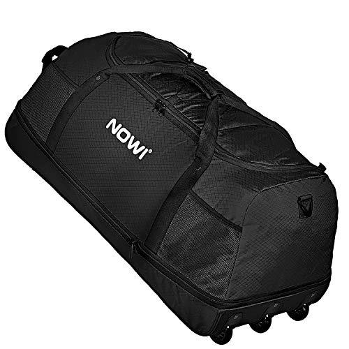 NOWI XXL 3-Rollen Reisetasche platzsparend 81 cm mit Dehnfalte