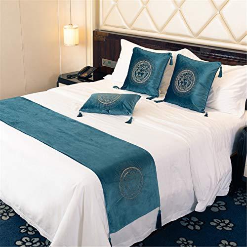 YFWJD Camino de Cama de Lujo, Accesorio de Cama Ideal para decoración de Hotel, Tapete de Cama Funda de Cama,#4,45x210cm for 180 cm Bed
