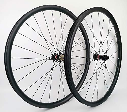 ZLYY 27.5er Montagne Bicyclette Profondeur Roues de Carbone de 30 mm de Largeur 24mm tubeless VTT...