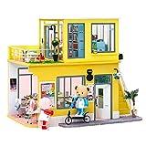 Rolife DIY Puppenhaus Miniatur Haus, Miniatur Puppenhaus Mit Teddybärpuppe Bastelset Erwachsene...