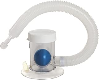 Breath Measurement Device - Compact and Hygienic Lung Exerciser - Manual Graded Setting to Monitor Progress