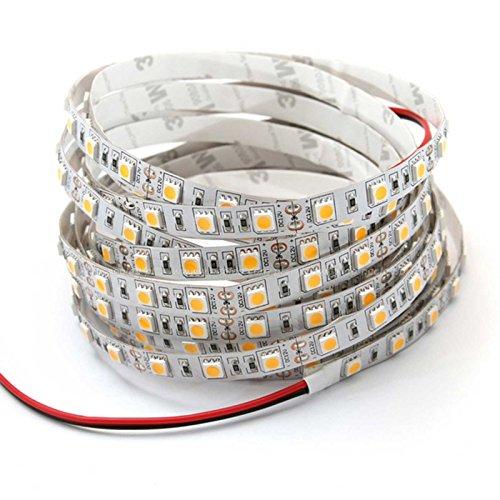 5 Meter LED Streifen Stripe SMD IP00 4,8W/m 4500K neutralweiß verlängerbar und alle 5cm kürzbar