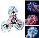 Quimat Fidget Hand Spinner Éclairage LED Jouet de Dextérité 216 Modes d'Éclairage Parfait pour Enfants et Adultes Aide à Lutter Contre l'Ennui et Le Stress et favorise la Concentration