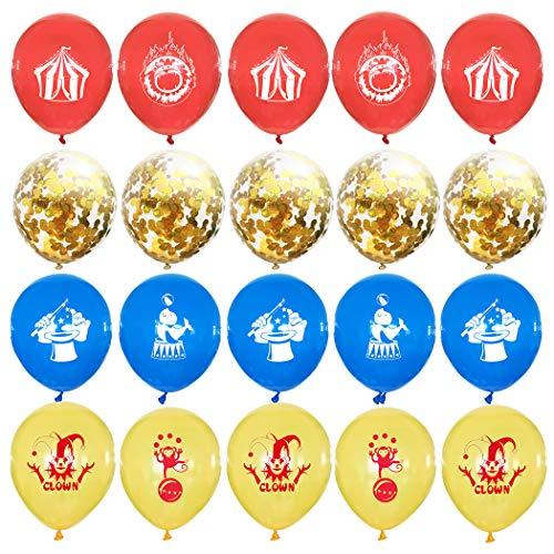 FunPa 20 Stucke Konfetti Latex Luftballons Set Animal Style Party Luftballons Girlande Kit Für Junge Mädchen Baby Dusche Dekor