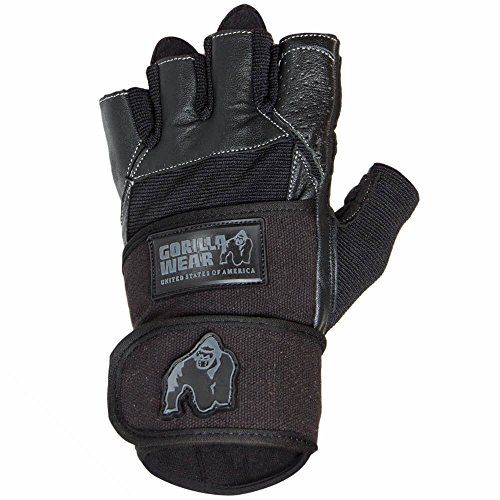 GORILLA WEAR Dallas Wrist Wrap Gloves - schwarz Bodybuilding und Fitness Accessoires für Herren, 2XL